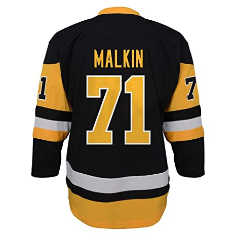 hot sale online 109d1 ef19f Outerstuff Evgeni Malkin Pittsburgh Penguins Youth NHL Black Replica Hockey  Jersey