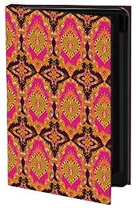 Keka Carrie Tasman Classic - Funda con tapa para Samsung Galaxy S4, diseño de patrón de damasco, multicolor