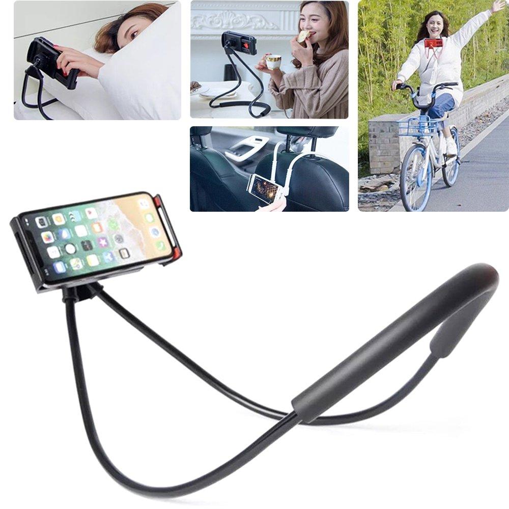 Cell Phone Holder for Car Bike Desktop, Freely Rotating Mounts, Black