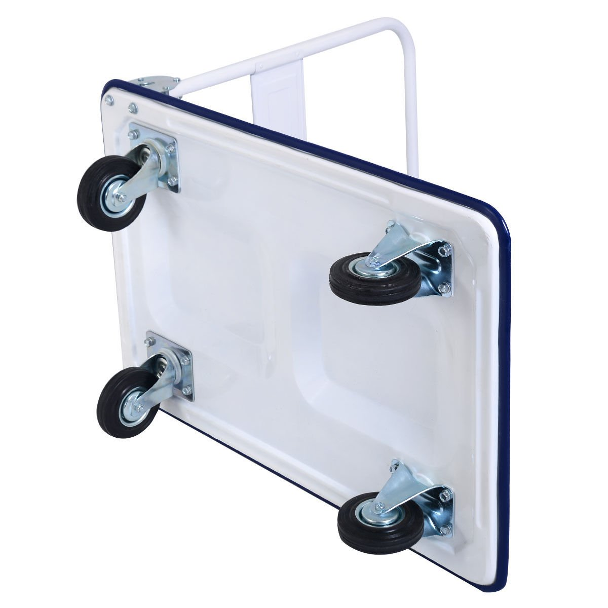 COLIBROX--660lbs Platform Cart Dolly Folding Foldable Moving Warehouse Push Hand Truck New Useful for home, outdoor, the office Stability of 4 wheels for smoothly loading Compact down to be suitable by COLIBROX