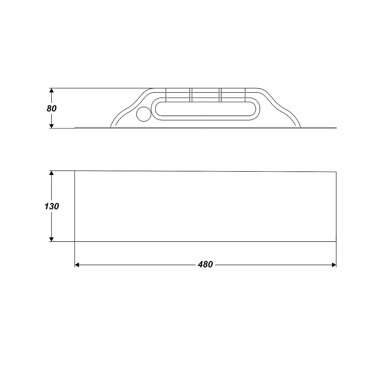 Reibebrett Gl/ättekelle Putzkelle 130 x 480 mm Edelstahl rostfrei Kunststoffgriff