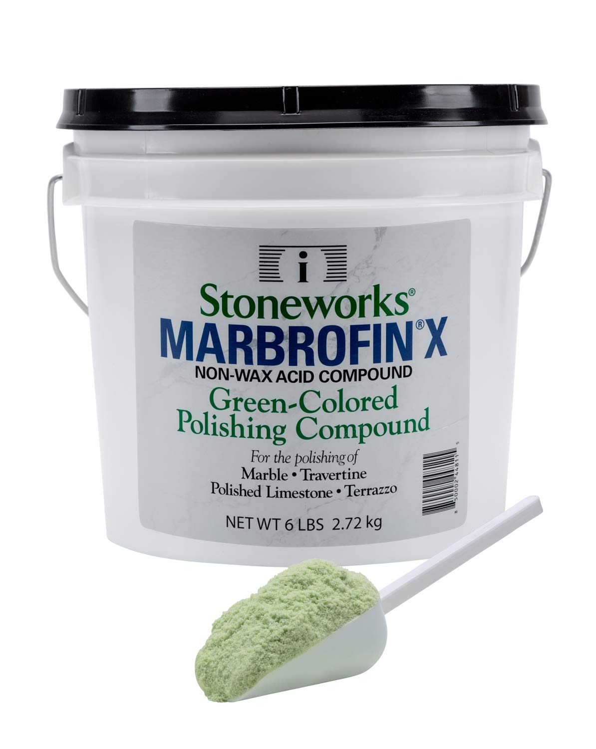 Marbrofin X (6 Lb) Green-Colored Polishing Powder for Marble and Other Natural Stones