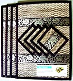THAI HOME DECOR SILK HANDCRAFT ELEPHANT REED PLACEMATS & COASTERS HANDMADE DINING ROOM BLACK COLOR