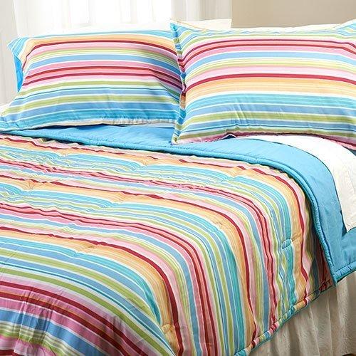 Candy Stripe Comforter Set, Full/Queen