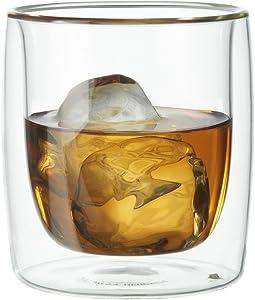 ZWILLING J.A. Henckels Double-Wall Tumbler Glass Set, 9 fl. oz, White