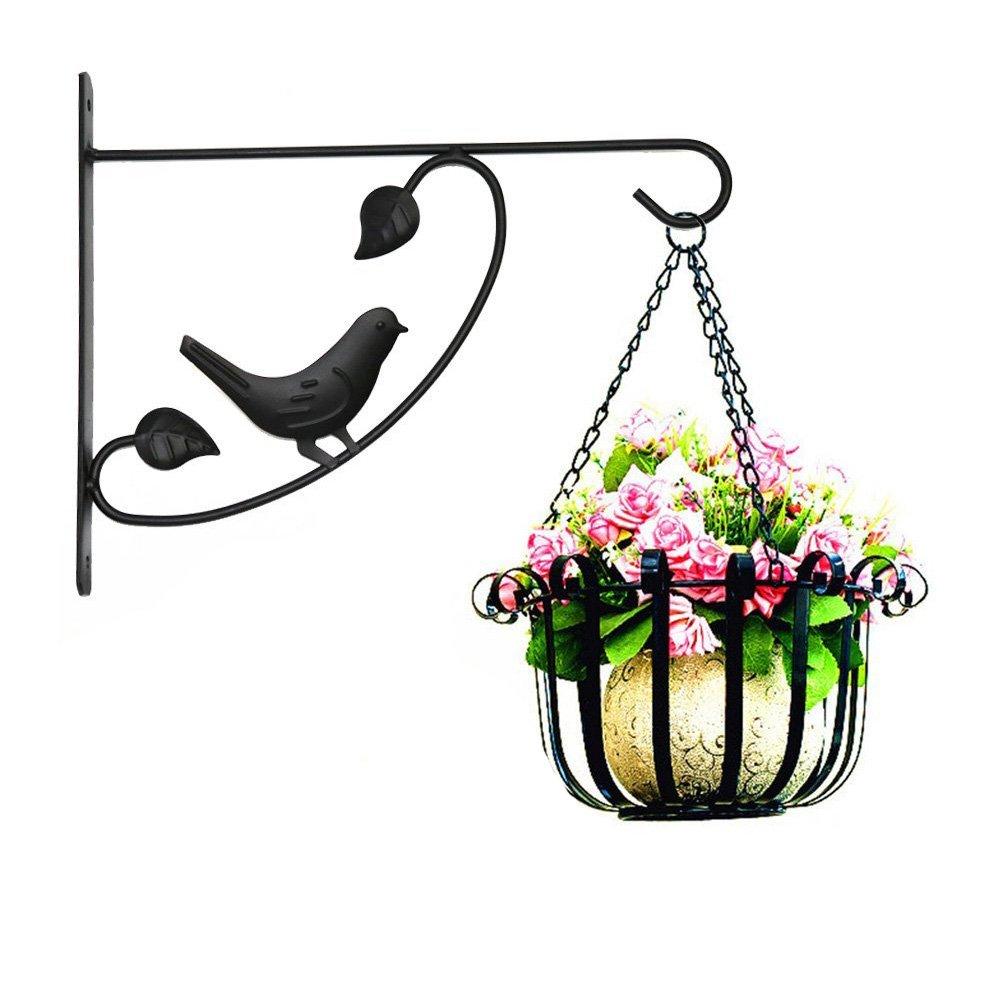 Black Jerome10Dan Iron Bracket Flower Basket Bracket Hook