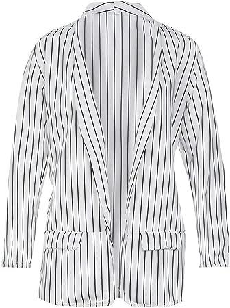 veste blazer blanche rayures noires femme