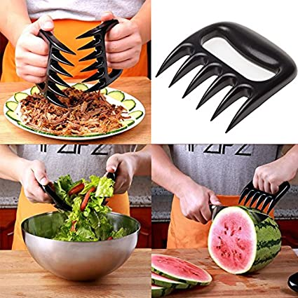 Set of 2 BBQ Meat Bear Paws Claws Pulled Pork Shredder Handler Forks Tongs USA