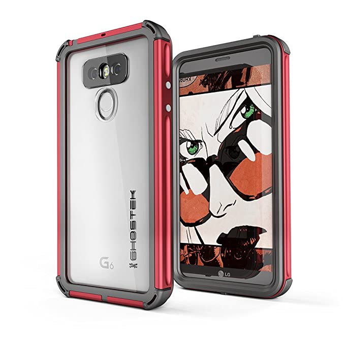 wholesale dealer a16a4 1c6f4 LG G6 Waterproof Case, Ghostek Atomic 3 for LG G6 Underwater Cover  Resilient Shockproof Shock Absorption Dustproof Aluminum Rubber Military  Protective ...