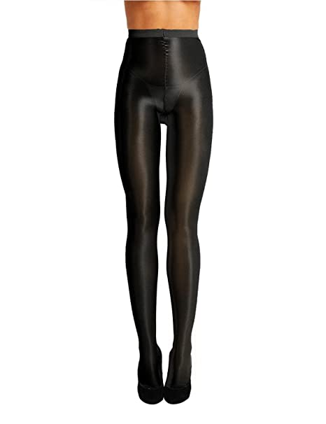 3b2d0a7ccc36b iiniim Women's Ultra Shimmery Stretch 70D Thickness Footed Silk Stockings  Pantyhose Tights Black One Size(