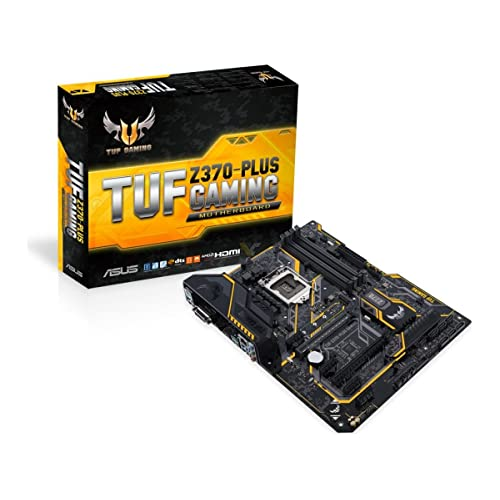 ASUS TUF Z370 PLUS Gaming Placa Base para Gaming 6 x PCIe 3 0 6 x SATA III 6 x USB 3 1 HDMI LGA1151 Intel HD Graphics DDR4 4000 MHz
