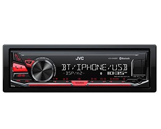 10 opinioni per JVC KD-X342BT Autoradio Digitale Compatibile con iPod/iPhone/Android, Rosso