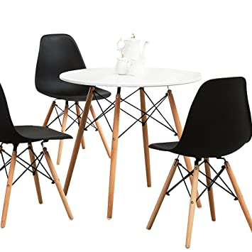 Amazoncom Aukronic Kitchen Dining Table Round Coffee Table Modern - Round pedestal conference table