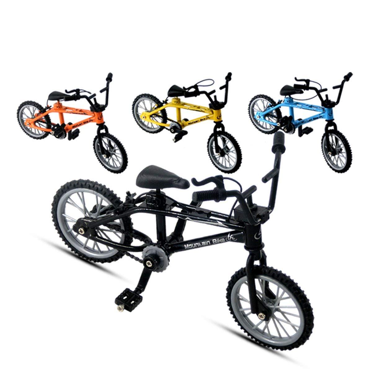 Los Aficionados Mini-Dedo-BMX Conjunto Bici del Juguete Dedo de la aleaci/ón de BMX Funcional de los ni/ños para Bicicleta Dedo modle BMX Regalo de los Juguetes Naranja