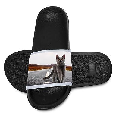 aa984e32db12bb Cat Walk Alone Slippers Soft Kid Sandals Teen Flat House Babouche 1 D(M)