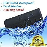 INVENTORY BLOWOUT - iZOOM Splashproof Shockproof Rugged Bluetooth Speaker. Portable with BIG HD Quality Sound with Dual Woofers. Outdoor Bluetooth Speaker, Waterproof Bluetooth speaker