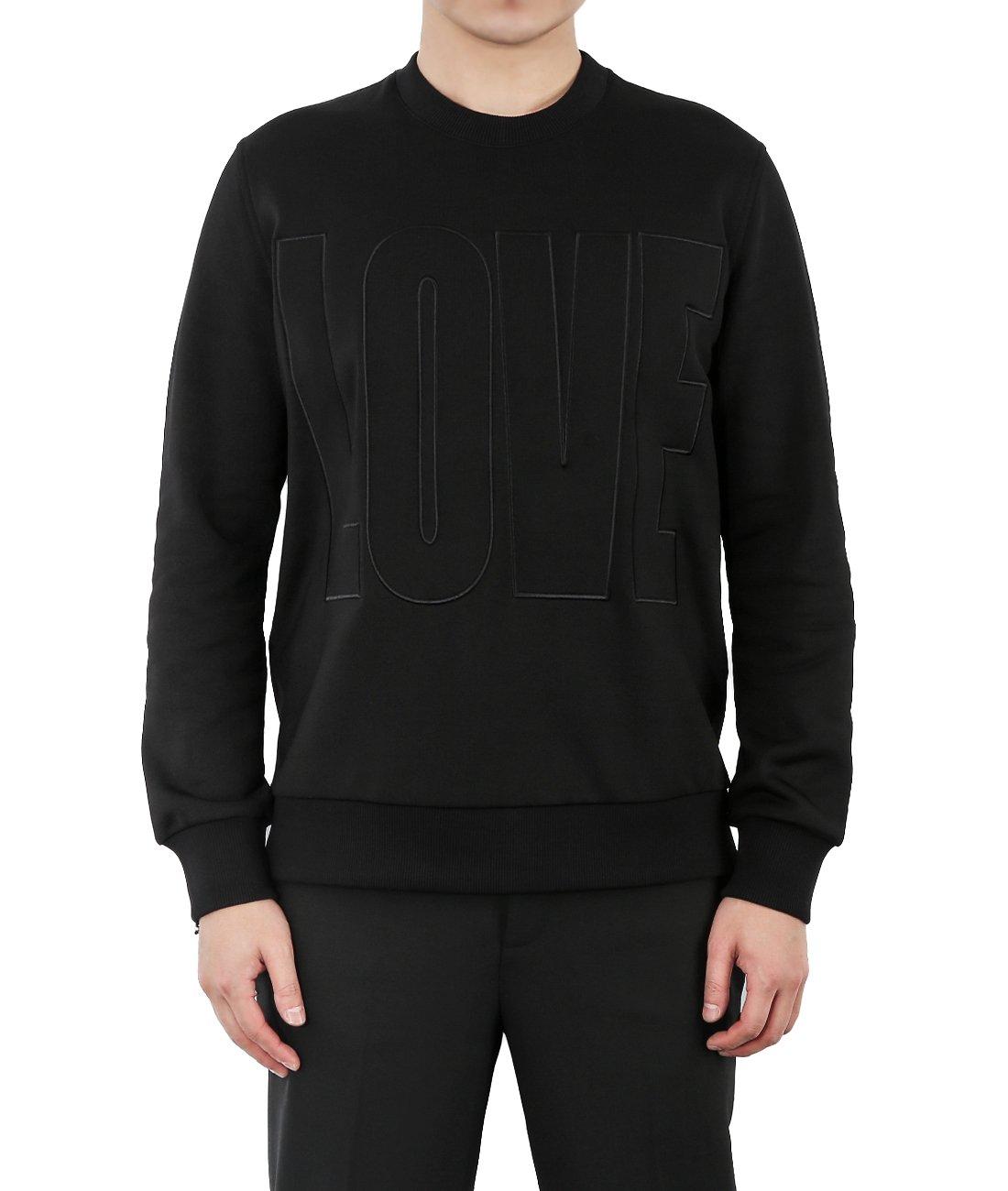 Wiberlux Givenchy Men's Love Sweatshirt M Black