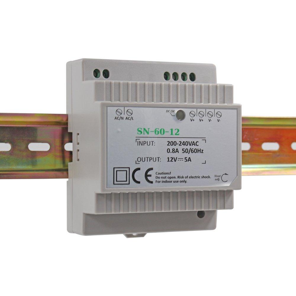 Auforua® Fuente de Alimentación LED 220 VAC/60 W 12 Vdc 5 A,