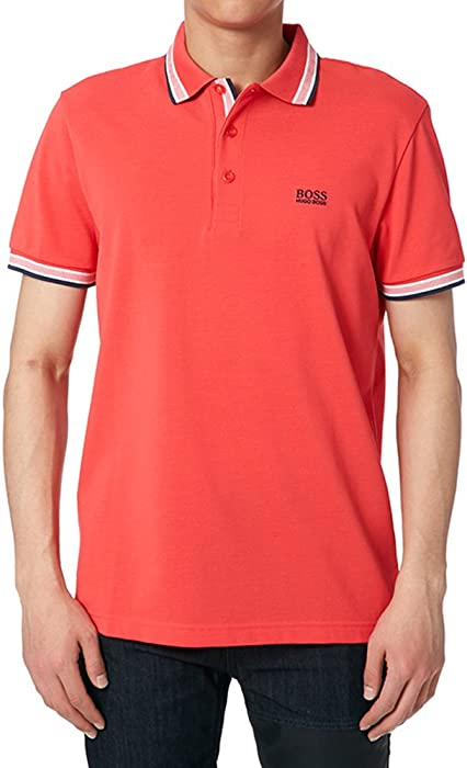 7842c0f02 Amazon.com: Hugo Boss Men's Modern Fit Paddy Polo Red S: Clothing