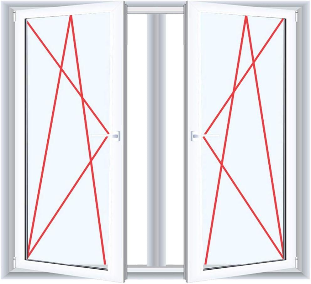 Glas:2-Fach 2-fl/ügliges Kunststofffenster//PVC//Wei/ß Dreh-Kipp//Dreh-Kipp Fenster mit Pfosten BxH:1500x1000
