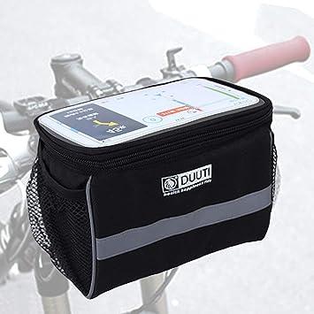 AlIXIN-Alforja impermeable ara bicicleta,con soporte para teléfono ...