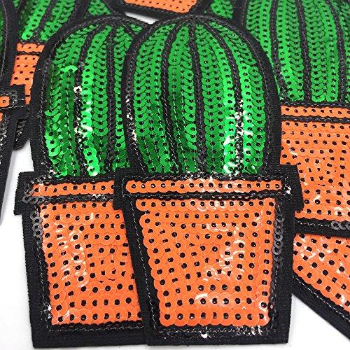 Oyfel Patch Ecusson Brod/é Thermocollant Couture Main Coudre Art Lot Cactus 10 Pcs