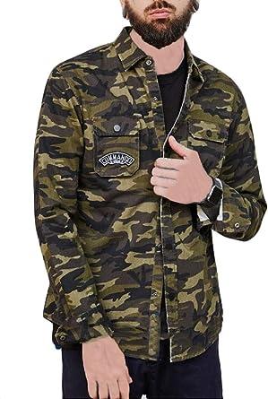 H&E Chamarra de Camuflaje con Bolsillo para Camisa de Hombre: Amazon.es: Ropa y accesorios