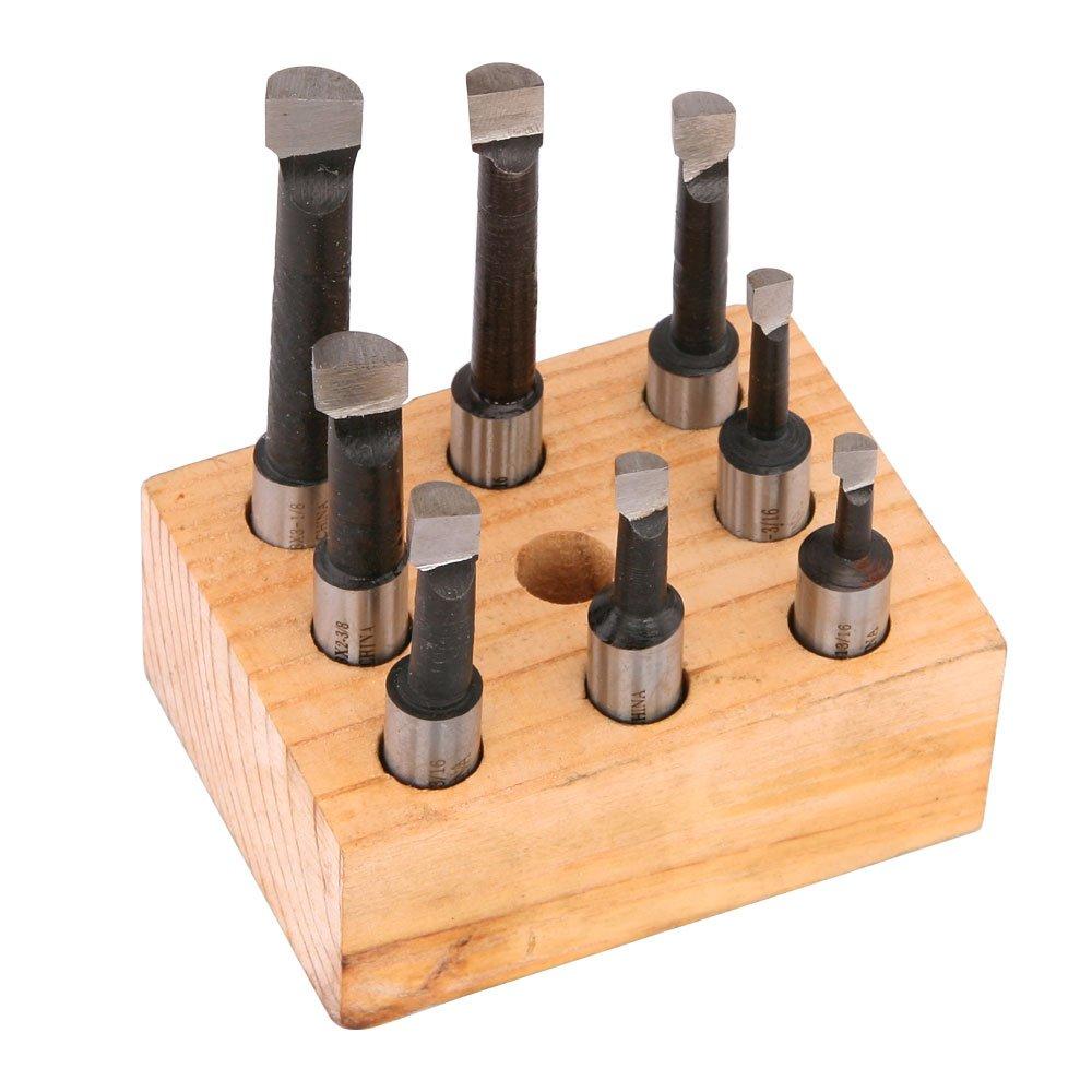 3//8 Shank High Speed Steel Boring Bar Set