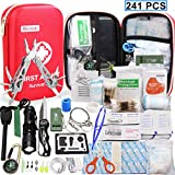 Monoki First Aid Kit Survival Kits, 241Pcs Upgraded Outdoor...