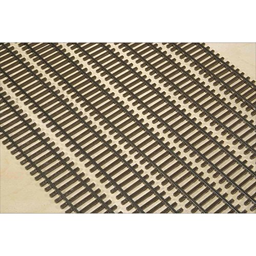 Scale Flex Track - HO Scale, Code 83 Weathered Flex Track, Bundle of 6 Pieces