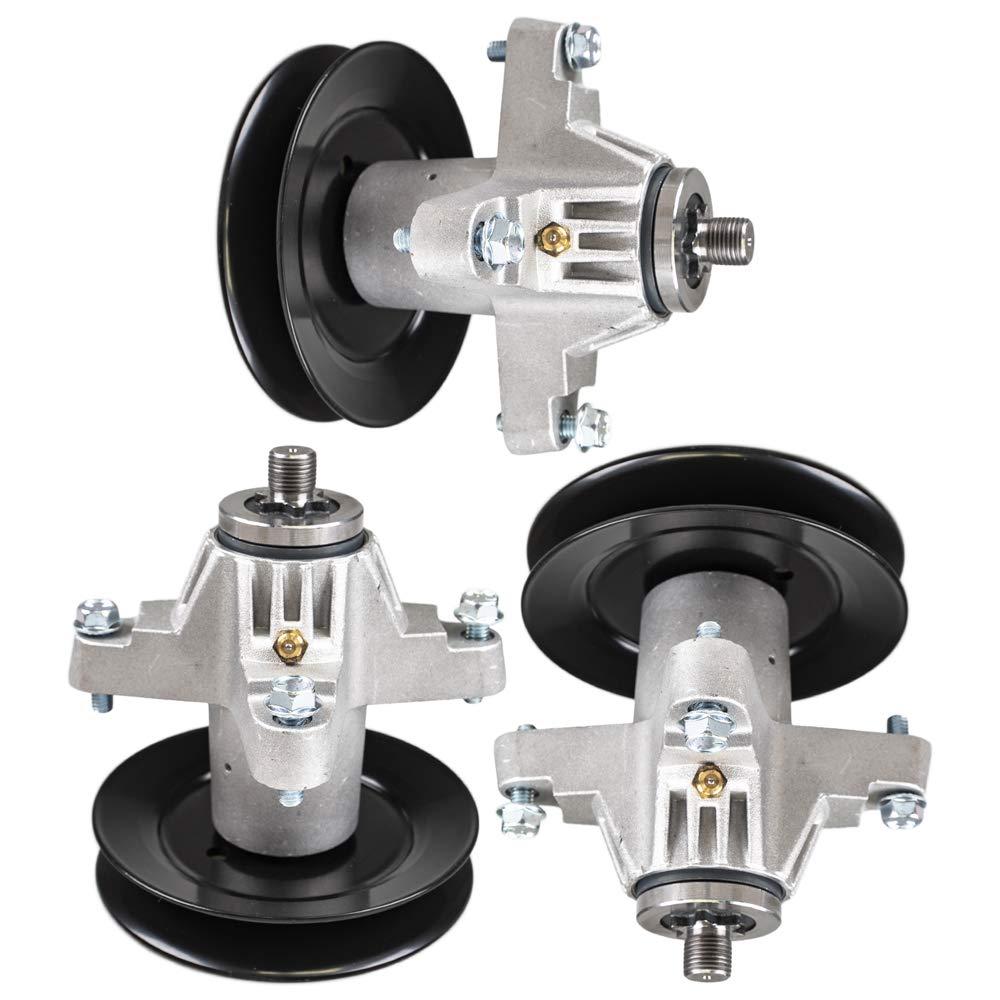 8TEN Spindle Set for MTD 50'' Deck for Cub Cadet RZT 50 RZT 22 LT1050 Troy-Bilt Replaces 918-04126B 918-04125C 3-Pack