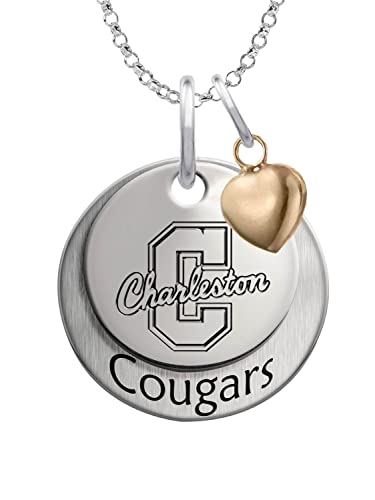 College Of Charleston Cougars Sterling Silver Stacked