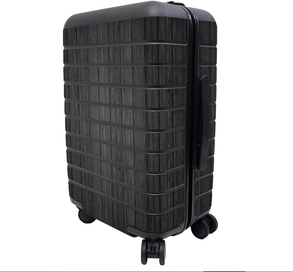 Protective and Unique Vinyl Decal wrap Cover Durable Easy to Apply and Change Styles Black Wood Remove MightySkins Skin Compatible with Away The Carry-On Suitcase Made in The USA