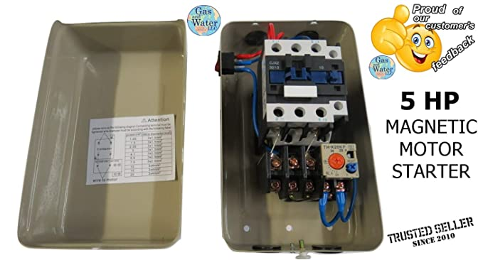 Magnetic Electric Motor Starter Control 5 Hp Single Phase 220/240v on