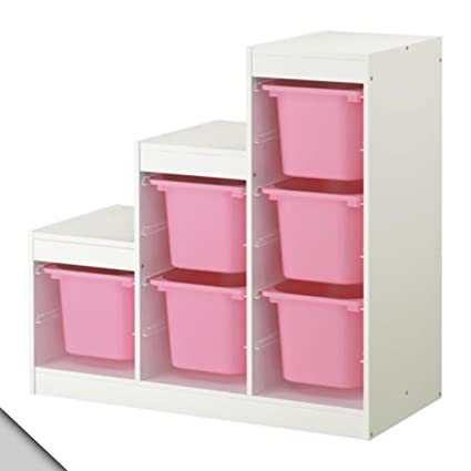 IKEA - TROFAST Storage combination (A2) with boxes white pink  sc 1 st  Amazon.com & Amazon.com: IKEA - TROFAST Storage combination (A2) with boxes ...