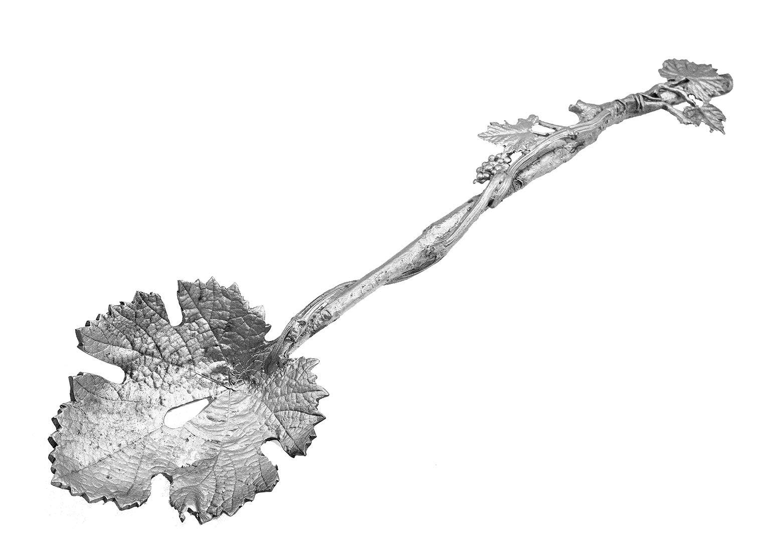 Grape Leaf Pasta Server by Michael Michaud #SU21AP by Silver Seasons Michael Machaud