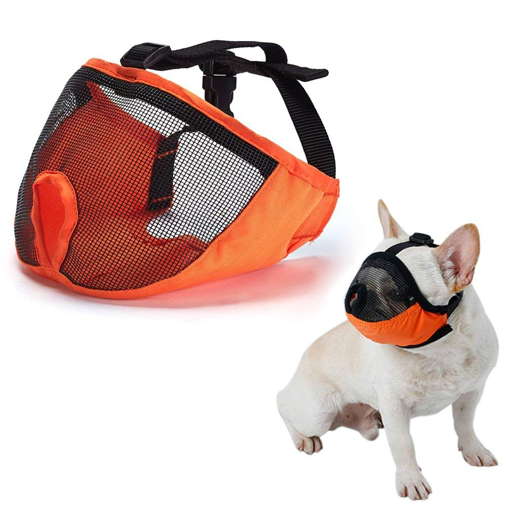 Breathable Dog Mouth Cover,Quick Fit Dog Muzzle with Adjustable Straps,to Prevent Biting and Screaming to Prevent Accidental Eating Pet Mouth Cover