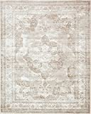 Unique Loom Sofia Collection Beige 8 x 10 Area Rug (8' x 10')