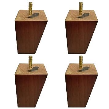 Amazon.com: Btibpse - Juego de 4 patas de madera maciza para ...