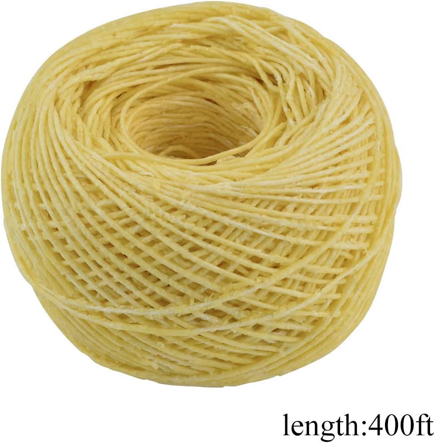 heliltd Hemp Wick Hemp Cord for Necklace Making Candle Wicks or Decorative Wax for DIY Oil Lamp 400FT