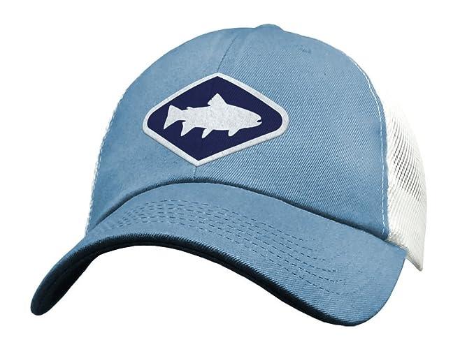 145cb670 Amazon.com: Cute Fly Fishing Snapback Trucker Hats for Women - Mesh Low  Profile Distressed Blue: Handmade