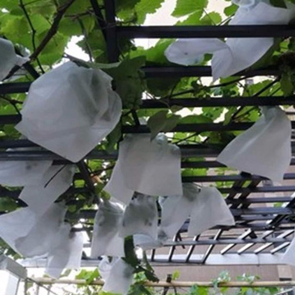 100 bolsas protectoras de jardín para guardar frutas, control de plagas agrícolas, prevención de insectos de pájaros, bolsa de malla para plantas y ...