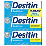 Desitin Rapid Relief Diaper Rash Cream, 4.8 Ounce, (Pack of 3)
