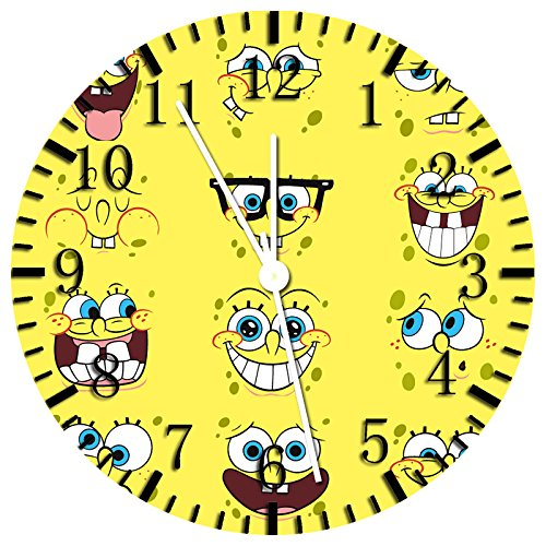 (SpongeBob SquarePants Frameless Borderless Wall Clock Z58 Nice For Gift or Room Wall Decor)