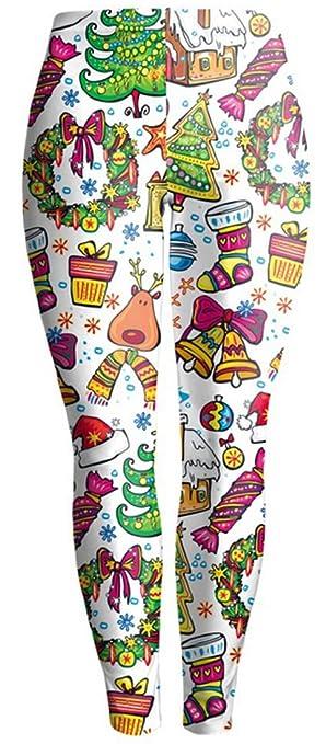 Belsen Damen Weihnachten glücklich Elastic Leggings Pants: Amazon.de:  Bekleidung