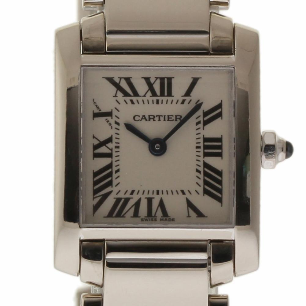 Cartier Tank Francaise swiss-quartz womens Watch W50012S3 (Certified Pre-owned)