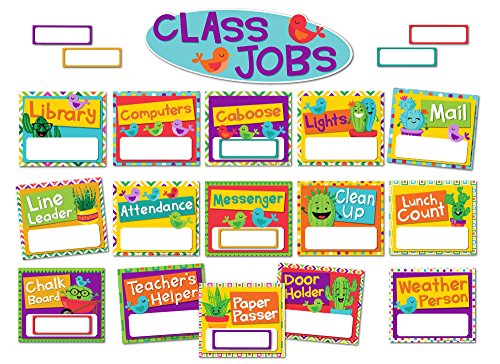 Helping Hands Pocket Chart - Eureka A Sharp Bunch Classroom Jobs Bulletin Board Set, 40 pcs