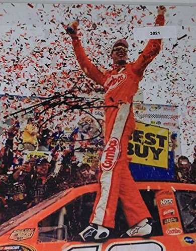 Busch Autograph (Kyle Busch Signed Autographed NASCAR Glossy 8x10 Photo - COA Matching Holograms)