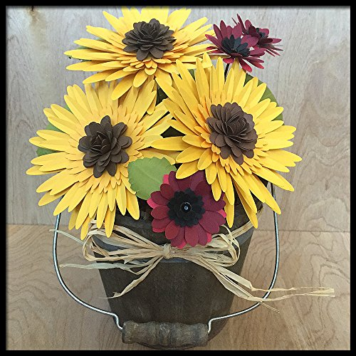 Sunflower Paper Flower Arrangement in Pot