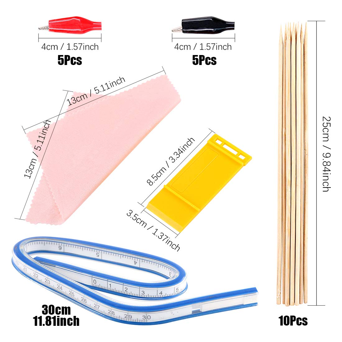 Keadic 87Pcs Modeler Basic Tools Craft Set Gundam Model Tools Kit with Plastic Box and Waterproof Bag for Gundam Car Model Building (Kit 10) by Keadic (Image #5)